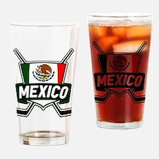 Mexico Ice Hockey Shield Drinking Glass