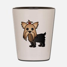 Cute Yorkshire Terrier Dog Shot Glass