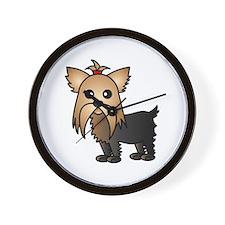 Cute Yorkshire Terrier Dog Wall Clock