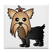 Cute Yorkshire Terrier Dog Tile Coaster