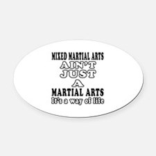 Mixed Martial Arts Designs Oval Car Magnet