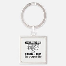 Mixed Martial Arts Designs Square Keychain
