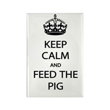 Keep Calm Feed The Pig Rectangle Magnet