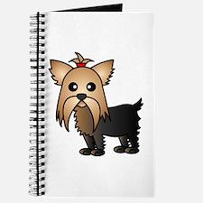 Cute Yorkshire Terrier Dog Journal