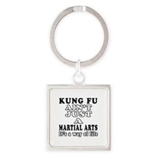 Kung Fu Martial Arts Designs Square Keychain