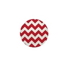 Chevron Red Mini Button