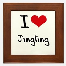 I Love Jingling Framed Tile