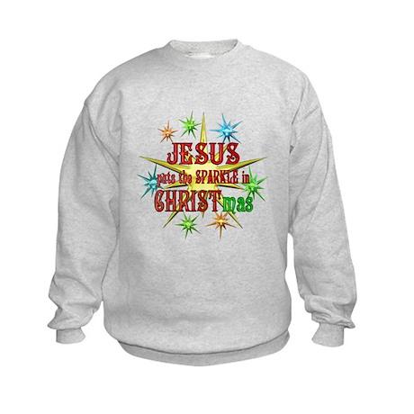Jesus Christmas Kids Sweatshirt