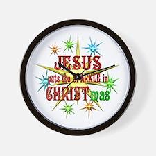 Jesus Christmas Wall Clock