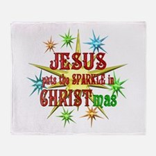 Jesus Christmas Throw Blanket