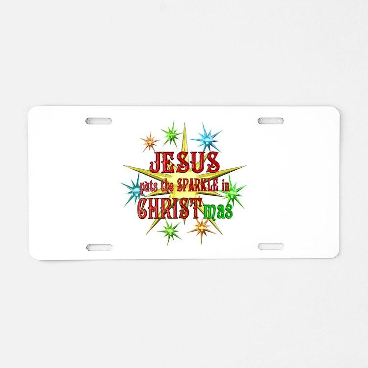 Jesus Christmas Aluminum License Plate