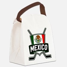 Mexico Ice Hockey Shield Canvas Lunch Bag