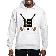 Field Hockey Number 19 Hoodie