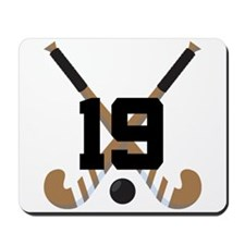 Field Hockey Number 19 Mousepad