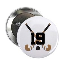 "Field Hockey Number 19 2.25"" Button"