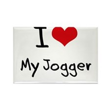 I Love My Jogger Rectangle Magnet