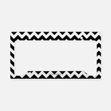 Chevron Black and W... License Plate Holder