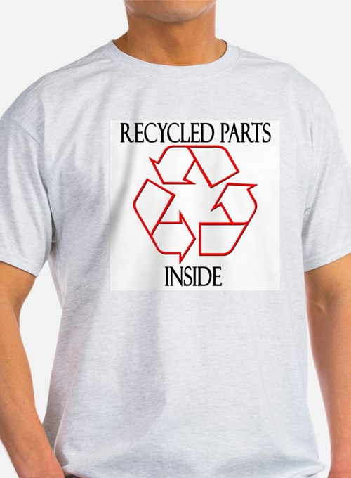 Recycled Parts Inside Ash Grey T-Shirt
