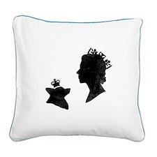 Queen and Corgi - Canvas Pillow
