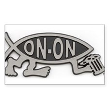 HashFish - On-On - BW Decal