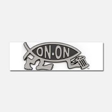 HashFish - On-On - BW Car Magnet 10 x 3