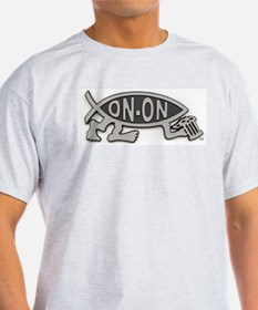 HashFish - On-On - BW T-Shirt