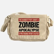 ZOMBIE APOCALYPSE - The hardest part Messenger Bag
