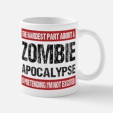 ZOMBIE APOCALYPSE - The hardest part Small Mugs