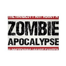 ZOMBIE APOCALYPSE - The hardest part Rectangle Mag
