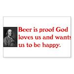 Ben Franklin Beer Quote.psd Sticker