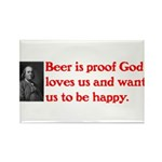Ben Franklin Beer Quote.psd Rectangle Magnet (10 p