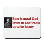 Ben Franklin Beer Quote.psd Mousepad