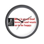 Ben Franklin Beer Quote.psd Wall Clock