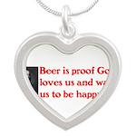 Ben Franklin Beer Quote.psd Necklaces
