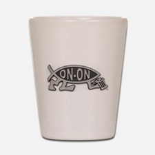 HashFish - On-On - BW Shot Glass