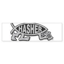 HashFish - Hasher - BW Bumper Bumper Sticker