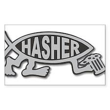 HashFish - Hasher - BW Decal