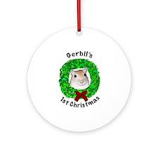 Gerbil's 1st Christmas Ornament