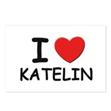 I love Katelin Postcards (Package of 8)