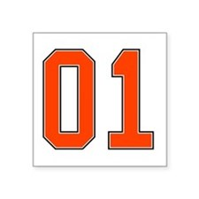 01 General Lee Dukes of Hazzard Car number Sticker