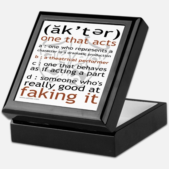 Actor (ak'ter) Meaning Keepsake Box