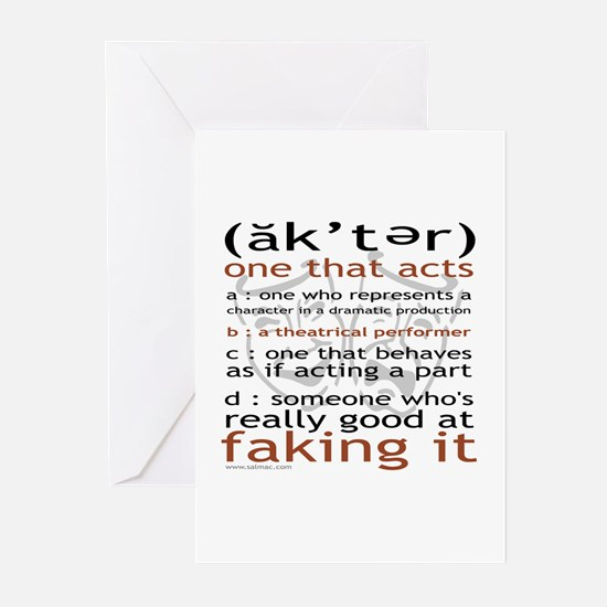 Actor (ak'ter) Meaning Greeting Cards (Pk of 10)
