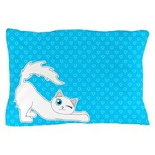 Cute Ragdoll Cat - White with Blue Eyes Pillow Cas