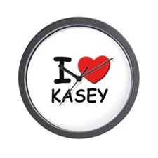 I love Kasey Wall Clock