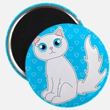 Cute Ragdoll Cat - White with Blue Eyes Magnet
