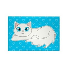 Cute Ragdoll Cat - White with Blue Eyes Rectangle