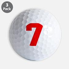 lucky seven Golf Ball