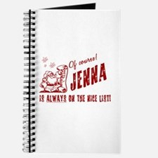Nice List Jenna Christmas Journal