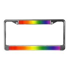 Rainbow<BR>License Plate Frame