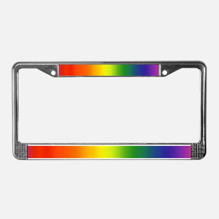 Rainbow<BR>License Plate Frame